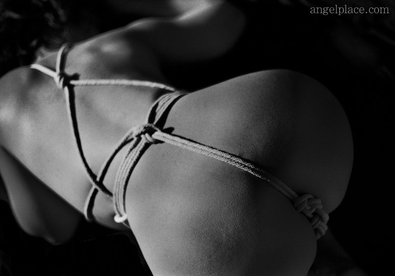 A tight crotchrope (also known as Matanawa or Sakura in Japanese bondage) - kinbaku-bi / shibari.